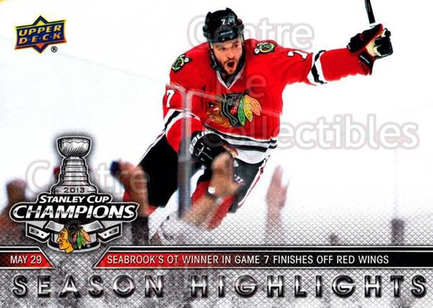 2012-13 Chicago Blackhawks UD Stanley Cup Champions #28 Brent Seabrook<br/>1 In Stock - $3.00 each - <a href=https://centericecollectibles.foxycart.com/cart?name=2012-13%20Chicago%20Blackhawks%20UD%20Stanley%20Cup%20Champions%20%2328%20Brent%20Seabrook...&quantity_max=1&price=$3.00&code=619826 class=foxycart> Buy it now! </a>