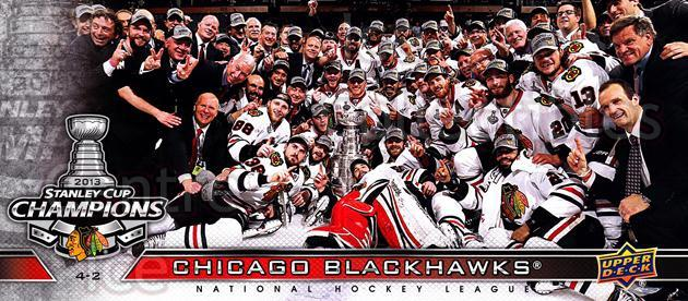 2012-13 Chicago Blackhawks UD Stanley Cup Champions #NNO Chicago Blackhawks, Team Photo<br/>2 In Stock - $3.00 each - <a href=https://centericecollectibles.foxycart.com/cart?name=2012-13%20Chicago%20Blackhawks%20UD%20Stanley%20Cup%20Champions%20%23NNO%20Chicago%20Blackha...&quantity_max=2&price=$3.00&code=619829 class=foxycart> Buy it now! </a>