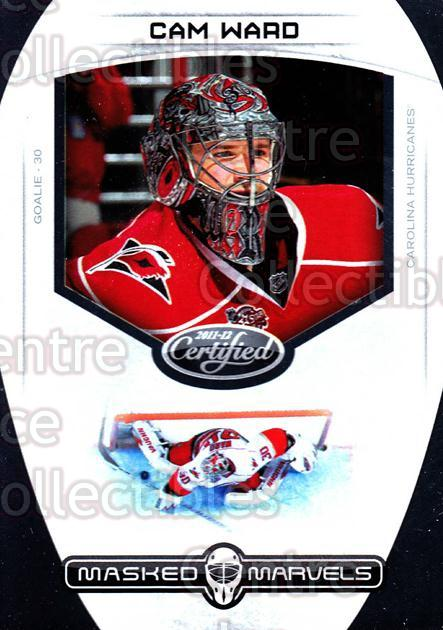 2011-12 Certified Masked Marvels #4 Cam Ward<br/>2 In Stock - $3.00 each - <a href=https://centericecollectibles.foxycart.com/cart?name=2011-12%20Certified%20Masked%20Marvels%20%234%20Cam%20Ward...&price=$3.00&code=619847 class=foxycart> Buy it now! </a>