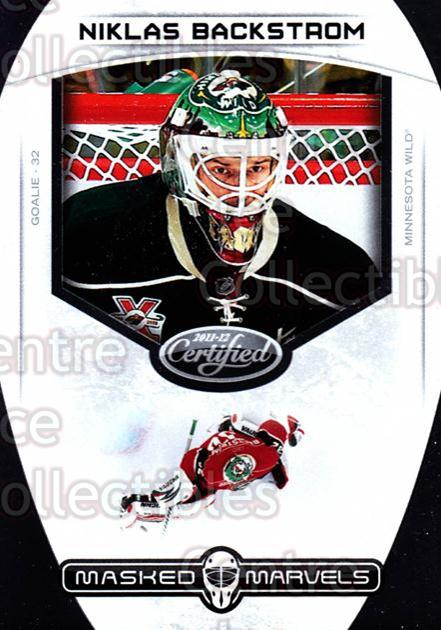 2011-12 Certified Masked Marvels #16 Niklas Backstrom<br/>2 In Stock - $3.00 each - <a href=https://centericecollectibles.foxycart.com/cart?name=2011-12%20Certified%20Masked%20Marvels%20%2316%20Niklas%20Backstro...&quantity_max=2&price=$3.00&code=619859 class=foxycart> Buy it now! </a>