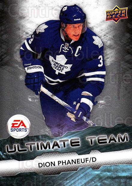 2011-12 Upper Deck EA Ultimate Team #12 Dion Phaneuf<br/>3 In Stock - $3.00 each - <a href=https://centericecollectibles.foxycart.com/cart?name=2011-12%20Upper%20Deck%20EA%20Ultimate%20Team%20%2312%20Dion%20Phaneuf...&price=$3.00&code=619875 class=foxycart> Buy it now! </a>