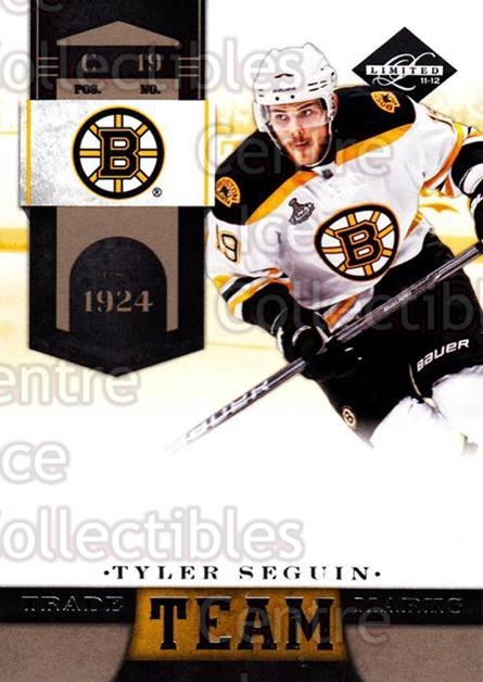 2011-12 Limited Team Trademarks #4 Tyler Seguin<br/>1 In Stock - $3.00 each - <a href=https://centericecollectibles.foxycart.com/cart?name=2011-12%20Limited%20Team%20Trademarks%20%234%20Tyler%20Seguin...&quantity_max=1&price=$3.00&code=619912 class=foxycart> Buy it now! </a>