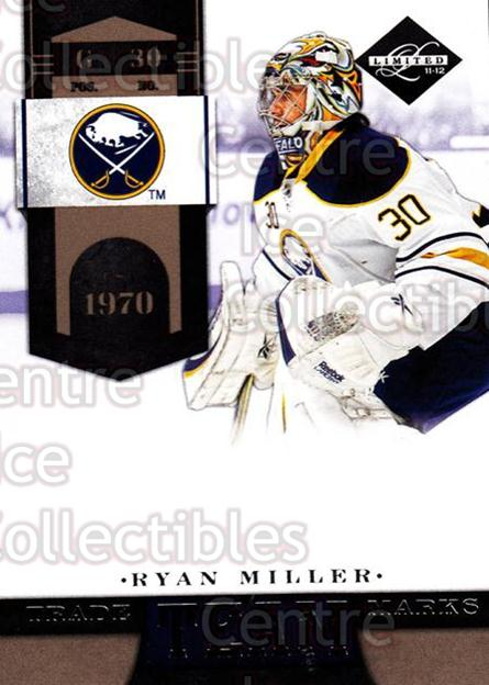 2011-12 Limited Team Trademarks #10 Ryan Miller<br/>1 In Stock - $3.00 each - <a href=https://centericecollectibles.foxycart.com/cart?name=2011-12%20Limited%20Team%20Trademarks%20%2310%20Ryan%20Miller...&quantity_max=1&price=$3.00&code=619918 class=foxycart> Buy it now! </a>