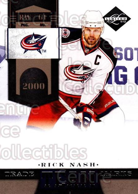 2011-12 Limited Team Trademarks #11 Rick Nash<br/>1 In Stock - $3.00 each - <a href=https://centericecollectibles.foxycart.com/cart?name=2011-12%20Limited%20Team%20Trademarks%20%2311%20Rick%20Nash...&quantity_max=1&price=$3.00&code=619919 class=foxycart> Buy it now! </a>