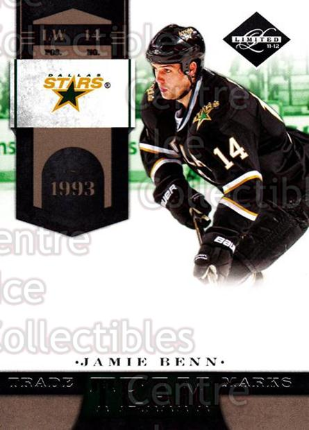 2011-12 Limited Team Trademarks #13 Jamie Benn<br/>1 In Stock - $3.00 each - <a href=https://centericecollectibles.foxycart.com/cart?name=2011-12%20Limited%20Team%20Trademarks%20%2313%20Jamie%20Benn...&quantity_max=1&price=$3.00&code=619921 class=foxycart> Buy it now! </a>