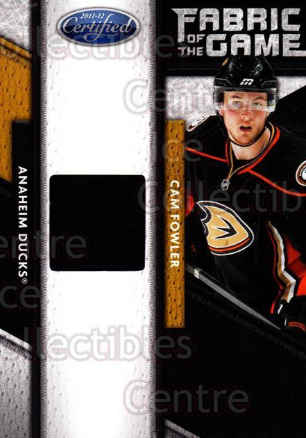 2011-12 Certified Fabric of the Game #4 Cam Fowler<br/>1 In Stock - $5.00 each - <a href=https://centericecollectibles.foxycart.com/cart?name=2011-12%20Certified%20Fabric%20of%20the%20Game%20%234%20Cam%20Fowler...&price=$5.00&code=621327 class=foxycart> Buy it now! </a>