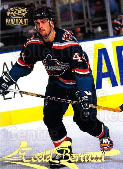 1997-98 Paramount #107 Todd Bertuzzi<br/>5 In Stock - $1.00 each - <a href=https://centericecollectibles.foxycart.com/cart?name=1997-98%20Paramount%20%23107%20Todd%20Bertuzzi...&quantity_max=5&price=$1.00&code=62143 class=foxycart> Buy it now! </a>