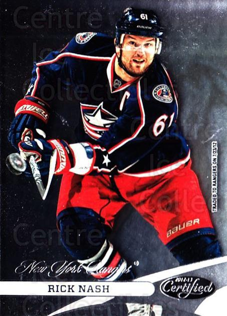 2012-13 Certified #61 Rick Nash<br/>1 In Stock - $1.00 each - <a href=https://centericecollectibles.foxycart.com/cart?name=2012-13%20Certified%20%2361%20Rick%20Nash...&quantity_max=1&price=$1.00&code=621684 class=foxycart> Buy it now! </a>