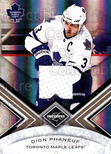 2010-11 Limited Threads #24 Dion Phaneuf<br/>1 In Stock - $5.00 each - <a href=https://centericecollectibles.foxycart.com/cart?name=2010-11%20Limited%20Threads%20%2324%20Dion%20Phaneuf...&price=$5.00&code=623231 class=foxycart> Buy it now! </a>