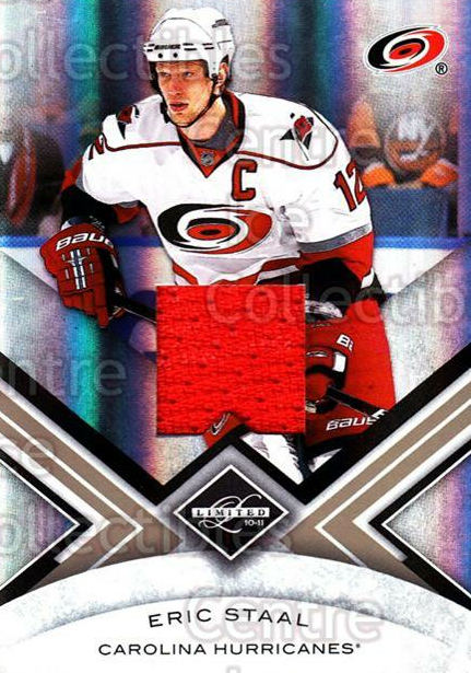 2010-11 Limited Threads #52 Eric Staal<br/>1 In Stock - $5.00 each - <a href=https://centericecollectibles.foxycart.com/cart?name=2010-11%20Limited%20Threads%20%2352%20Eric%20Staal...&quantity_max=1&price=$5.00&code=623249 class=foxycart> Buy it now! </a>