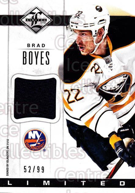 2012-13 Limited Materials #LJBS Brad Boyes<br/>1 In Stock - $5.00 each - <a href=https://centericecollectibles.foxycart.com/cart?name=2012-13%20Limited%20Materials%20%23LJBS%20Brad%20Boyes...&quantity_max=1&price=$5.00&code=624498 class=foxycart> Buy it now! </a>