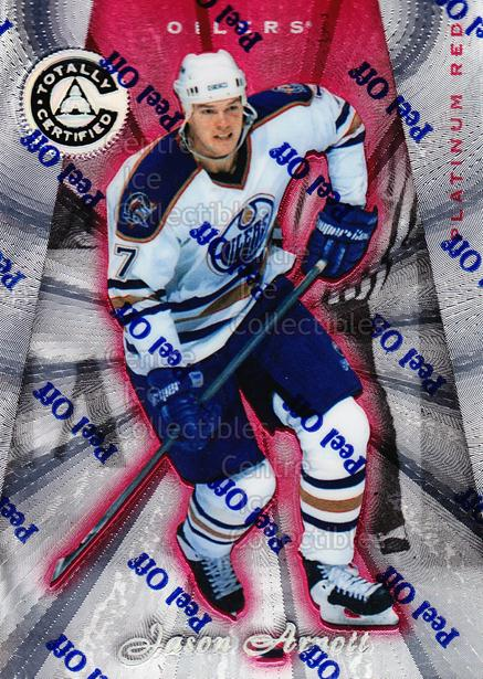 1997-98 Pinnacle Totally Certified Platinum Red #124 Jason Arnott<br/>6 In Stock - $2.00 each - <a href=https://centericecollectibles.foxycart.com/cart?name=1997-98%20Pinnacle%20Totally%20Certified%20Platinum%20Red%20%23124%20Jason%20Arnott...&quantity_max=6&price=$2.00&code=62474 class=foxycart> Buy it now! </a>