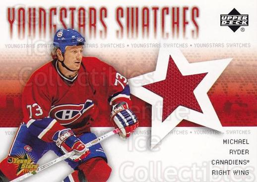 2004-05 Upper Deck YoungStars Swatches Jersey #YSMR Michael Ryder<br/>1 In Stock - $10.00 each - <a href=https://centericecollectibles.foxycart.com/cart?name=2004-05%20Upper%20Deck%20YoungStars%20Swatches%20Jersey%20%23YSMR%20Michael%20Ryder...&quantity_max=1&price=$10.00&code=624875 class=foxycart> Buy it now! </a>