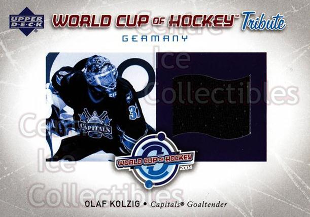 2004-05 Upper Deck World Cup Tribute Jersey #WCOK Olaf Kolzig<br/>1 In Stock - $5.00 each - <a href=https://centericecollectibles.foxycart.com/cart?name=2004-05%20Upper%20Deck%20World%20Cup%20Tribute%20Jersey%20%23WCOK%20Olaf%20Kolzig...&quantity_max=1&price=$5.00&code=624906 class=foxycart> Buy it now! </a>