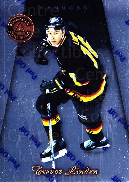 1997-98 Pinnacle Certified #104 Trevor Linden<br/>5 In Stock - $1.00 each - <a href=https://centericecollectibles.foxycart.com/cart?name=1997-98%20Pinnacle%20Certified%20%23104%20Trevor%20Linden...&quantity_max=5&price=$1.00&code=62521 class=foxycart> Buy it now! </a>