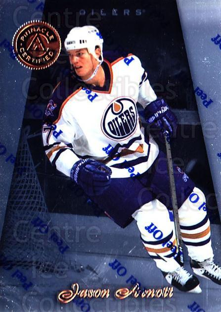 1997-98 Pinnacle Certified #124 Jason Arnott<br/>5 In Stock - $1.00 each - <a href=https://centericecollectibles.foxycart.com/cart?name=1997-98%20Pinnacle%20Certified%20%23124%20Jason%20Arnott...&quantity_max=5&price=$1.00&code=62543 class=foxycart> Buy it now! </a>