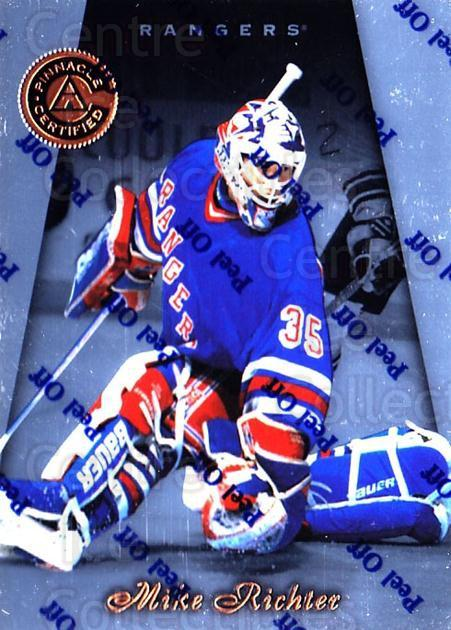 1997-98 Pinnacle Certified #13 Mike Richter<br/>4 In Stock - $1.00 each - <a href=https://centericecollectibles.foxycart.com/cart?name=1997-98%20Pinnacle%20Certified%20%2313%20Mike%20Richter...&quantity_max=4&price=$1.00&code=62549 class=foxycart> Buy it now! </a>