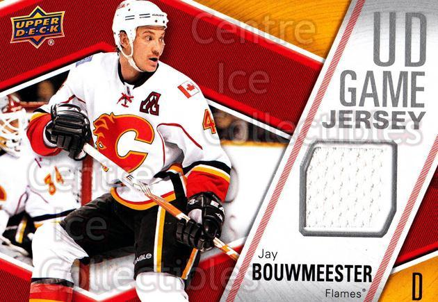 2011-12 Upper Deck Jersey Series One #GJBO Jay Bouwmeester<br/>1 In Stock - $5.00 each - <a href=https://centericecollectibles.foxycart.com/cart?name=2011-12%20Upper%20Deck%20Jersey%20Series%20One%20%23GJBO%20Jay%20Bouwmeester...&quantity_max=1&price=$5.00&code=625685 class=foxycart> Buy it now! </a>