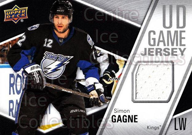 2011-12 Upper Deck Jersey Series One #GJSG Simon Gagne<br/>4 In Stock - $5.00 each - <a href=https://centericecollectibles.foxycart.com/cart?name=2011-12%20Upper%20Deck%20Jersey%20Series%20One%20%23GJSG%20Simon%20Gagne...&quantity_max=4&price=$5.00&code=625758 class=foxycart> Buy it now! </a>
