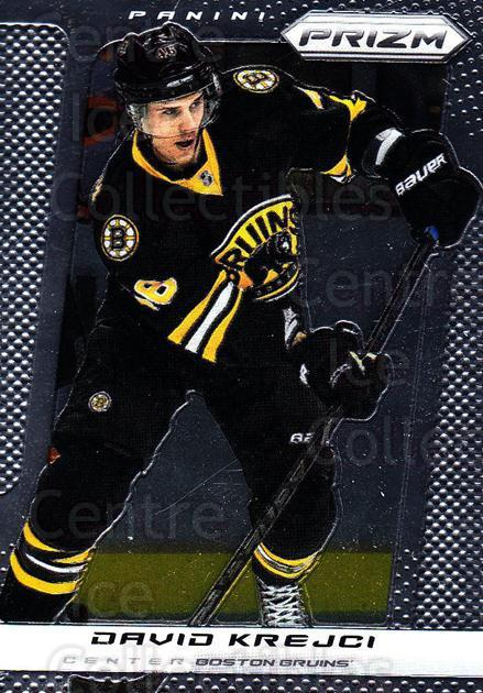 2013-14 Panini Prizm #7 David Krejci<br/>3 In Stock - $1.00 each - <a href=https://centericecollectibles.foxycart.com/cart?name=2013-14%20Panini%20Prizm%20%237%20David%20Krejci...&quantity_max=3&price=$1.00&code=626090 class=foxycart> Buy it now! </a>