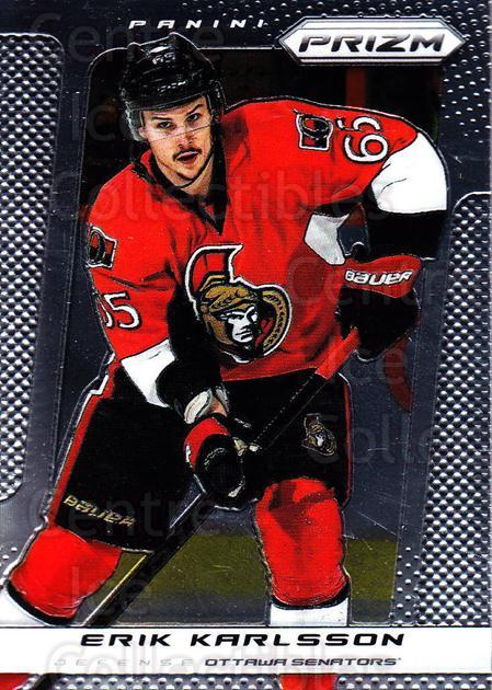 2013-14 Panini Prizm #69 Erik Karlsson<br/>4 In Stock - $1.00 each - <a href=https://centericecollectibles.foxycart.com/cart?name=2013-14%20Panini%20Prizm%20%2369%20Erik%20Karlsson...&quantity_max=4&price=$1.00&code=626152 class=foxycart> Buy it now! </a>