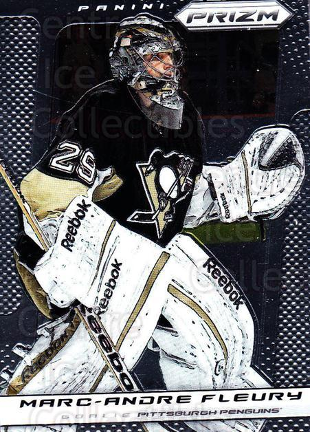 2013-14 Panini Prizm #86 Marc-Andre Fleury<br/>2 In Stock - $2.00 each - <a href=https://centericecollectibles.foxycart.com/cart?name=2013-14%20Panini%20Prizm%20%2386%20Marc-Andre%20Fleu...&quantity_max=2&price=$2.00&code=626169 class=foxycart> Buy it now! </a>
