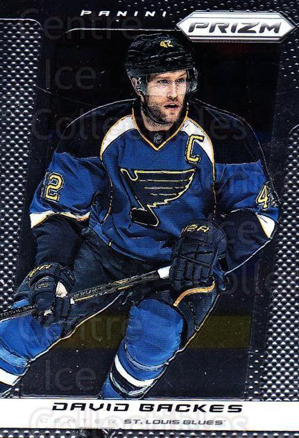 2013-14 Panini Prizm #182 David Backes<br/>4 In Stock - $1.00 each - <a href=https://centericecollectibles.foxycart.com/cart?name=2013-14%20Panini%20Prizm%20%23182%20David%20Backes...&quantity_max=4&price=$1.00&code=626265 class=foxycart> Buy it now! </a>
