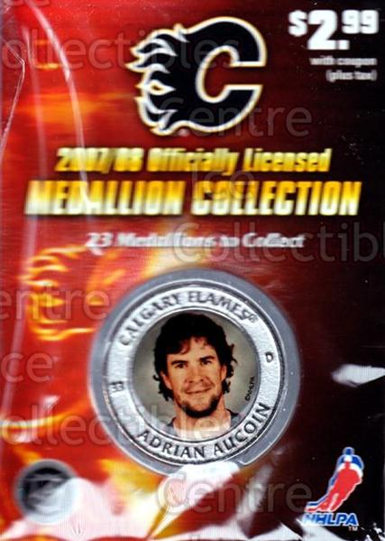 2007-08 Calgary Flames Medallion #1 Adrian Aucoin<br/>2 In Stock - $5.00 each - <a href=https://centericecollectibles.foxycart.com/cart?name=2007-08%20Calgary%20Flames%20Medallion%20%231%20Adrian%20Aucoin...&quantity_max=2&price=$5.00&code=626484 class=foxycart> Buy it now! </a>