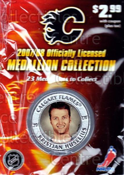 2007-08 Calgary Flames Medallion #6 Kristian Huselius<br/>1 In Stock - $5.00 each - <a href=https://centericecollectibles.foxycart.com/cart?name=2007-08%20Calgary%20Flames%20Medallion%20%236%20Kristian%20Huseli...&quantity_max=1&price=$5.00&code=626489 class=foxycart> Buy it now! </a>