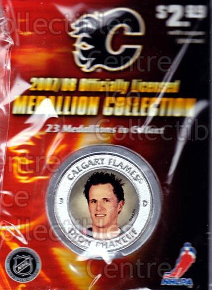 2007-08 Calgary Flames Medallion #15 Dion Phaneuf<br/>5 In Stock - $5.00 each - <a href=https://centericecollectibles.foxycart.com/cart?name=2007-08%20Calgary%20Flames%20Medallion%20%2315%20Dion%20Phaneuf...&price=$5.00&code=626498 class=foxycart> Buy it now! </a>