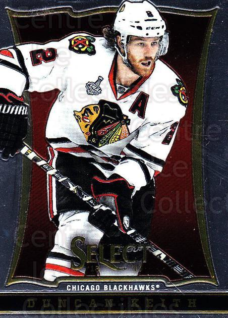 2013-14 Select #4 Duncan Keith<br/>4 In Stock - $2.00 each - <a href=https://centericecollectibles.foxycart.com/cart?name=2013-14%20Select%20%234%20Duncan%20Keith...&quantity_max=4&price=$2.00&code=626510 class=foxycart> Buy it now! </a>