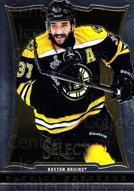 2013-14 Select #21 Patrice Bergeron<br/>5 In Stock - $2.00 each - <a href=https://centericecollectibles.foxycart.com/cart?name=2013-14%20Select%20%2321%20Patrice%20Bergero...&quantity_max=5&price=$2.00&code=626527 class=foxycart> Buy it now! </a>
