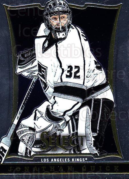 2013-14 Select #31 Jonathan Quick<br/>5 In Stock - $1.00 each - <a href=https://centericecollectibles.foxycart.com/cart?name=2013-14%20Select%20%2331%20Jonathan%20Quick...&quantity_max=5&price=$1.00&code=626537 class=foxycart> Buy it now! </a>