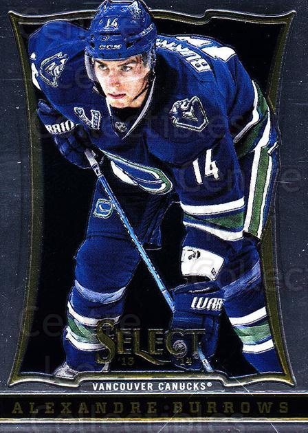 2013-14 Select #40 Alexandre Burrows<br/>6 In Stock - $1.00 each - <a href=https://centericecollectibles.foxycart.com/cart?name=2013-14%20Select%20%2340%20Alexandre%20Burro...&quantity_max=6&price=$1.00&code=626546 class=foxycart> Buy it now! </a>