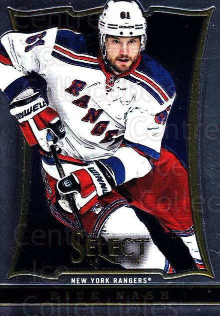 2013-14 Select #57 Rick Nash<br/>4 In Stock - $1.00 each - <a href=https://centericecollectibles.foxycart.com/cart?name=2013-14%20Select%20%2357%20Rick%20Nash...&quantity_max=4&price=$1.00&code=626563 class=foxycart> Buy it now! </a>
