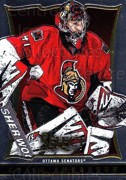 2013-14 Select #66 Craig Anderson<br/>6 In Stock - $1.00 each - <a href=https://centericecollectibles.foxycart.com/cart?name=2013-14%20Select%20%2366%20Craig%20Anderson...&quantity_max=6&price=$1.00&code=626572 class=foxycart> Buy it now! </a>