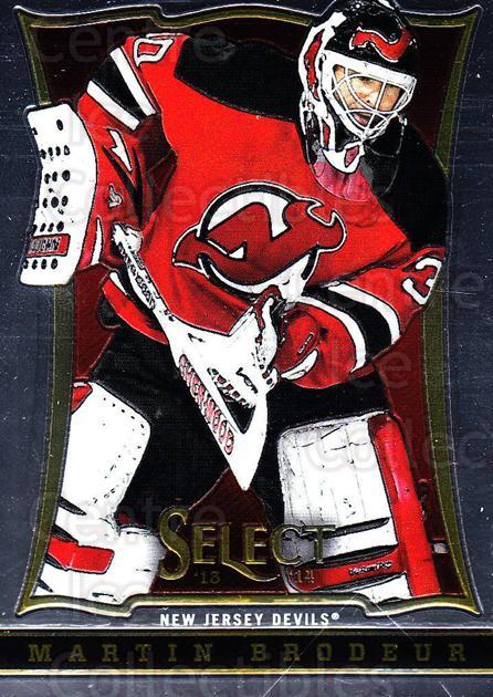 2013-14 Select #106 Martin Brodeur<br/>5 In Stock - $3.00 each - <a href=https://centericecollectibles.foxycart.com/cart?name=2013-14%20Select%20%23106%20Martin%20Brodeur...&quantity_max=5&price=$3.00&code=626612 class=foxycart> Buy it now! </a>