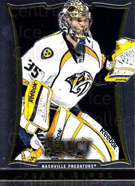 2013-14 Select #132 Pekka Rinne<br/>5 In Stock - $1.00 each - <a href=https://centericecollectibles.foxycart.com/cart?name=2013-14%20Select%20%23132%20Pekka%20Rinne...&quantity_max=5&price=$1.00&code=626638 class=foxycart> Buy it now! </a>
