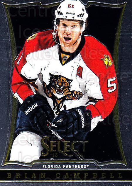 2013-14 Select #148 Brian Campbell<br/>6 In Stock - $1.00 each - <a href=https://centericecollectibles.foxycart.com/cart?name=2013-14%20Select%20%23148%20Brian%20Campbell...&quantity_max=6&price=$1.00&code=626654 class=foxycart> Buy it now! </a>