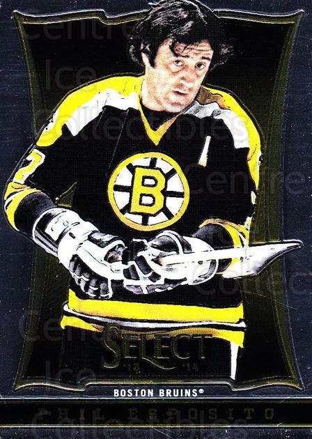 2013-14 Select #185 Phil Esposito<br/>6 In Stock - $2.00 each - <a href=https://centericecollectibles.foxycart.com/cart?name=2013-14%20Select%20%23185%20Phil%20Esposito...&quantity_max=6&price=$2.00&code=626691 class=foxycart> Buy it now! </a>
