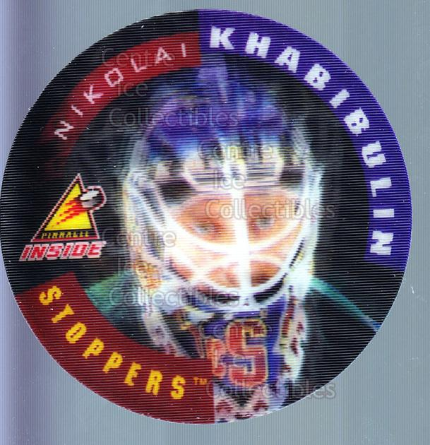 1997-98 Pinnacle Inside Stoppers #16 Nikolai Khabibulin<br/>1 In Stock - $3.00 each - <a href=https://centericecollectibles.foxycart.com/cart?name=1997-98%20Pinnacle%20Inside%20Stoppers%20%2316%20Nikolai%20Khabibu...&quantity_max=1&price=$3.00&code=62698 class=foxycart> Buy it now! </a>