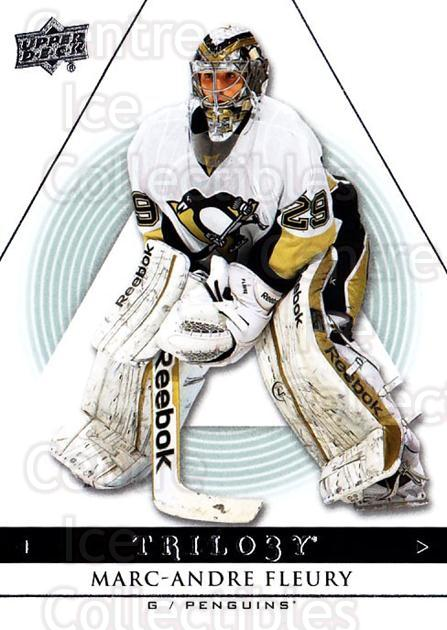 2013-14 UD Trilogy #78 Marc-Andre Fleury<br/>1 In Stock - $2.00 each - <a href=https://centericecollectibles.foxycart.com/cart?name=2013-14%20UD%20Trilogy%20%2378%20Marc-Andre%20Fleu...&quantity_max=1&price=$2.00&code=627649 class=foxycart> Buy it now! </a>