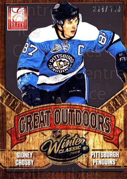 2012-13 Elite The Great Outdoors #1 Sidney Crosby<br/>1 In Stock - $10.00 each - <a href=https://centericecollectibles.foxycart.com/cart?name=2012-13%20Elite%20The%20Great%20Outdoors%20%231%20Sidney%20Crosby...&quantity_max=1&price=$10.00&code=628298 class=foxycart> Buy it now! </a>