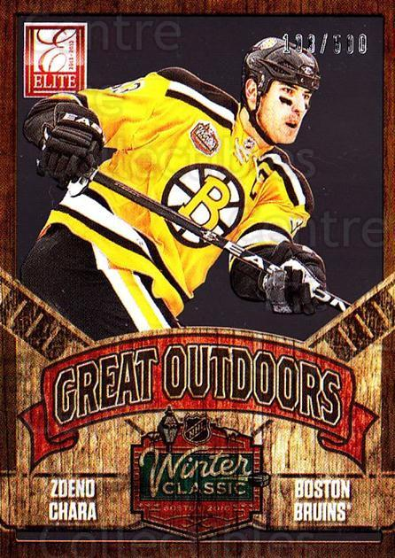 2012-13 Elite The Great Outdoors #15 Zdeno Chara<br/>1 In Stock - $5.00 each - <a href=https://centericecollectibles.foxycart.com/cart?name=2012-13%20Elite%20The%20Great%20Outdoors%20%2315%20Zdeno%20Chara...&quantity_max=1&price=$5.00&code=628312 class=foxycart> Buy it now! </a>