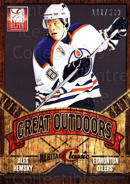 2012-13 Elite The Great Outdoors #31 Ales Hemsky<br/>1 In Stock - $5.00 each - <a href=https://centericecollectibles.foxycart.com/cart?name=2012-13%20Elite%20The%20Great%20Outdoors%20%2331%20Ales%20Hemsky...&quantity_max=1&price=$5.00&code=628328 class=foxycart> Buy it now! </a>