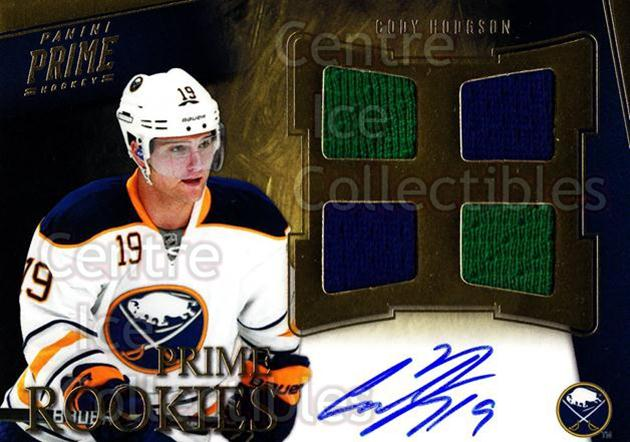 2011-12 Panini Prime #103 Cody Hodgson<br/>1 In Stock - $10.00 each - <a href=https://centericecollectibles.foxycart.com/cart?name=2011-12%20Panini%20Prime%20%23103%20Cody%20Hodgson...&quantity_max=1&price=$10.00&code=628520 class=foxycart> Buy it now! </a>