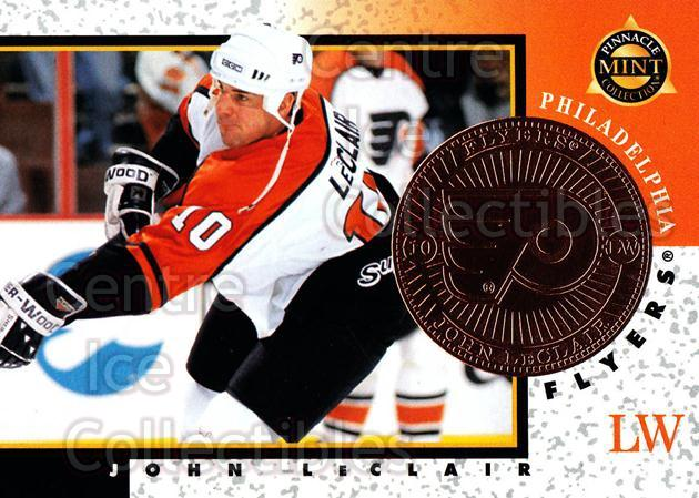 1997-98 Pinnacle Mint Bronze #20 John LeClair<br/>7 In Stock - $2.00 each - <a href=https://centericecollectibles.foxycart.com/cart?name=1997-98%20Pinnacle%20Mint%20Bronze%20%2320%20John%20LeClair...&quantity_max=7&price=$2.00&code=62864 class=foxycart> Buy it now! </a>