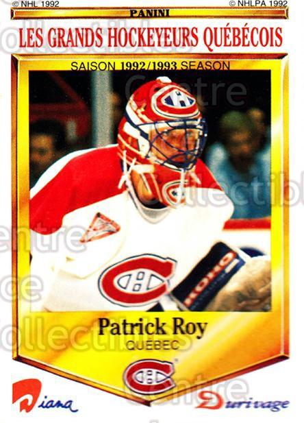 1992-93 Durivage Panini #50 Patrick Roy<br/>3 In Stock - $5.00 each - <a href=https://centericecollectibles.foxycart.com/cart?name=1992-93%20Durivage%20Panini%20%2350%20Patrick%20Roy...&quantity_max=3&price=$5.00&code=629833 class=foxycart> Buy it now! </a>