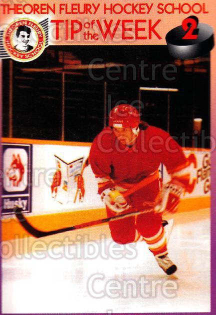 1995-96 Theoren Fleury Hockey School #2 Theo Fleury<br/>2 In Stock - $2.00 each - <a href=https://centericecollectibles.foxycart.com/cart?name=1995-96%20Theoren%20Fleury%20Hockey%20School%20%232%20Theo%20Fleury...&quantity_max=2&price=$2.00&code=629961 class=foxycart> Buy it now! </a>