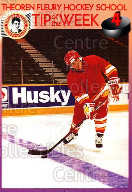 1995-96 Theoren Fleury Hockey School #4 Theo Fleury<br/>2 In Stock - $2.00 each - <a href=https://centericecollectibles.foxycart.com/cart?name=1995-96%20Theoren%20Fleury%20Hockey%20School%20%234%20Theo%20Fleury...&quantity_max=2&price=$2.00&code=629963 class=foxycart> Buy it now! </a>